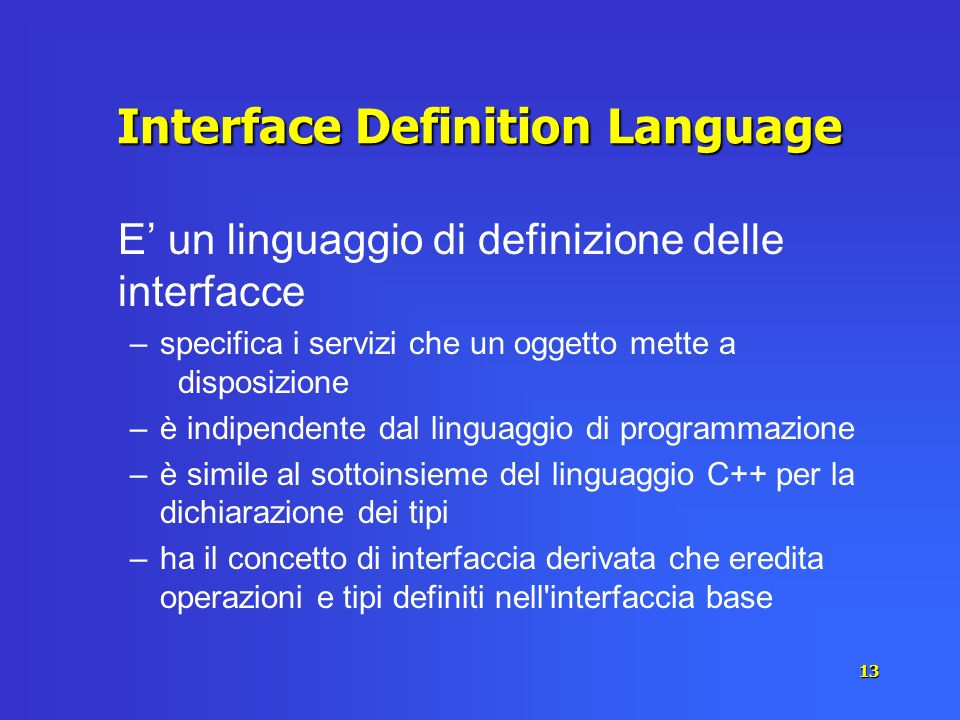Interface Definition Language