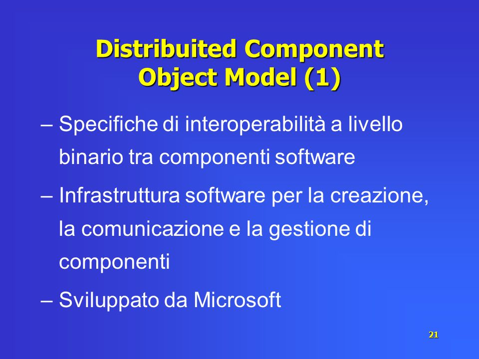 Distribuited Component Object Model (1)