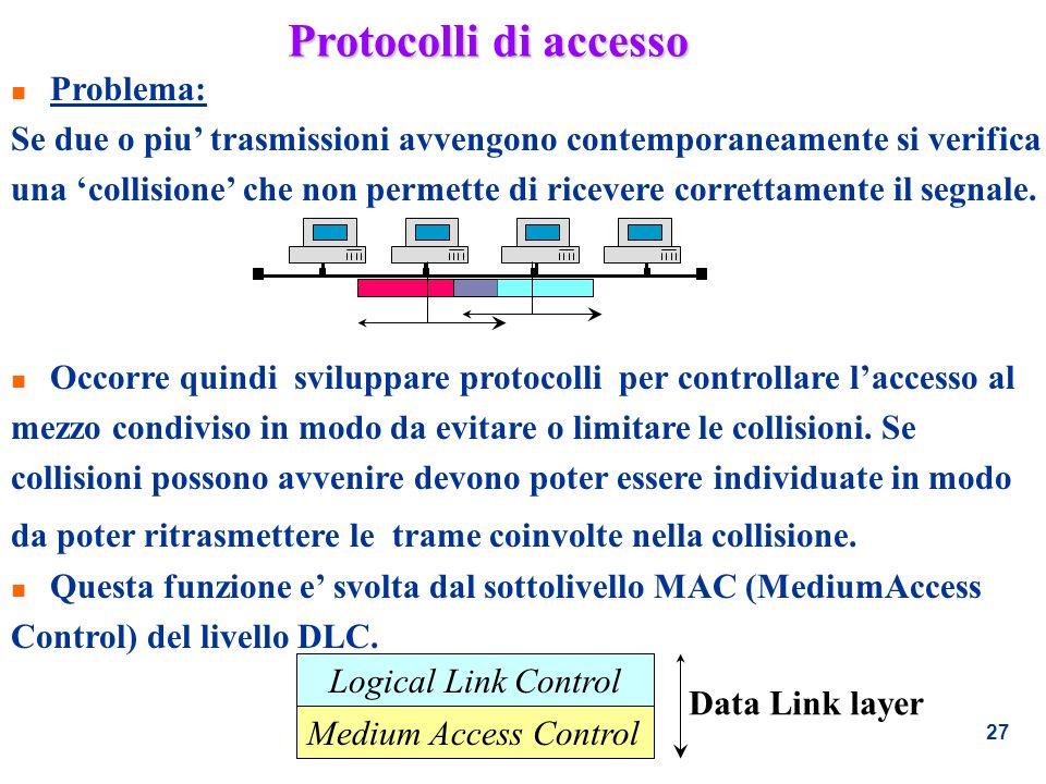 Protocolli di accesso Problema: