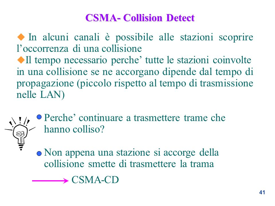 CSMA- Collision Detect