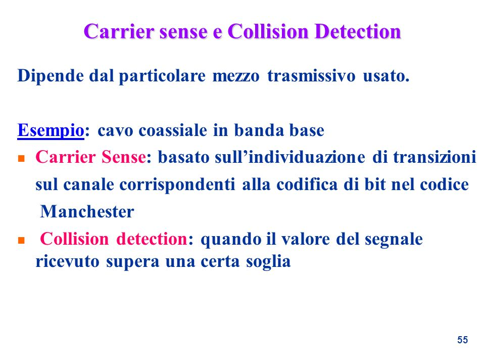 Carrier sense e Collision Detection