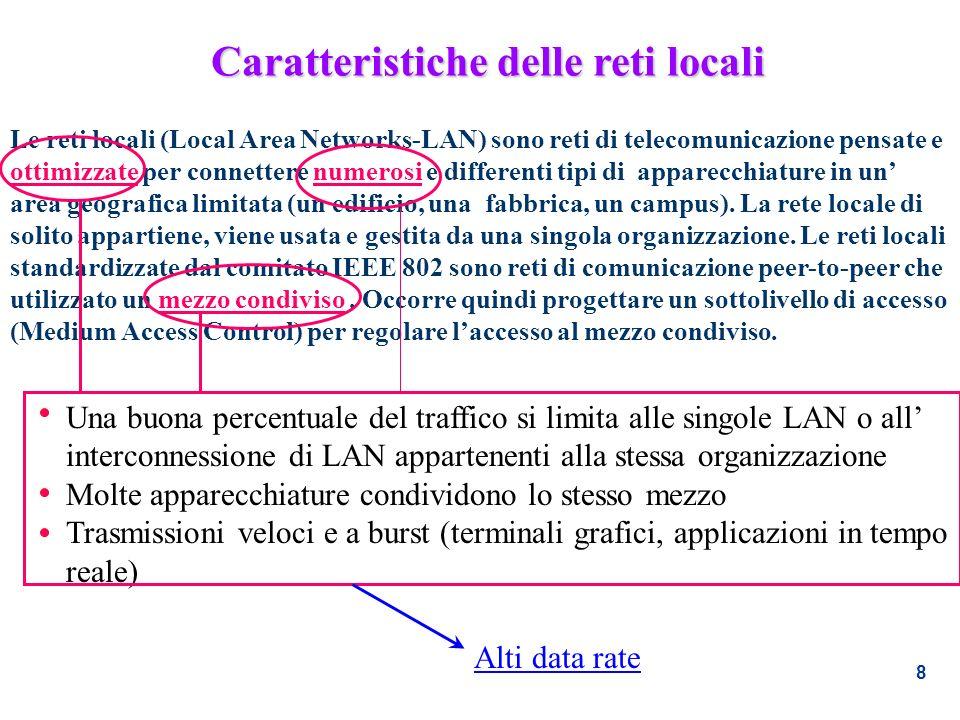 Caratteristiche delle reti locali