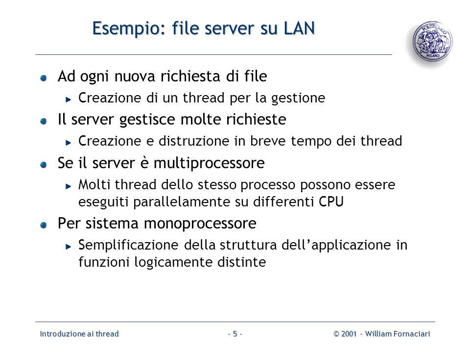 Esempio: file server su LAN