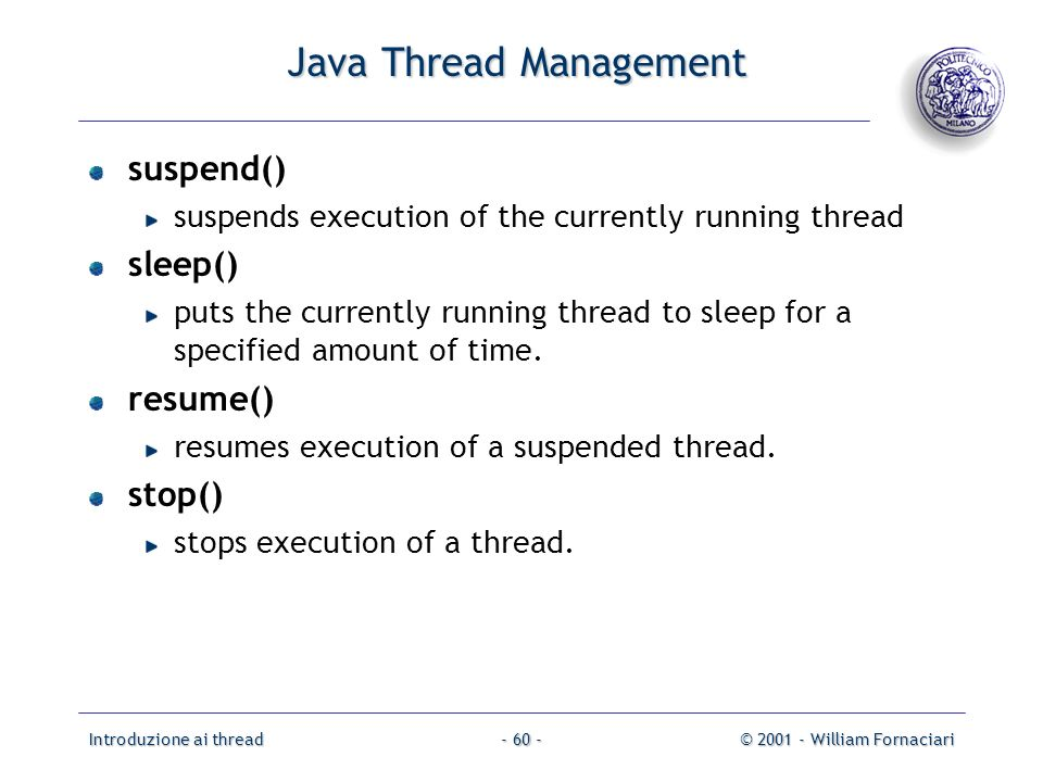 Java Thread Management