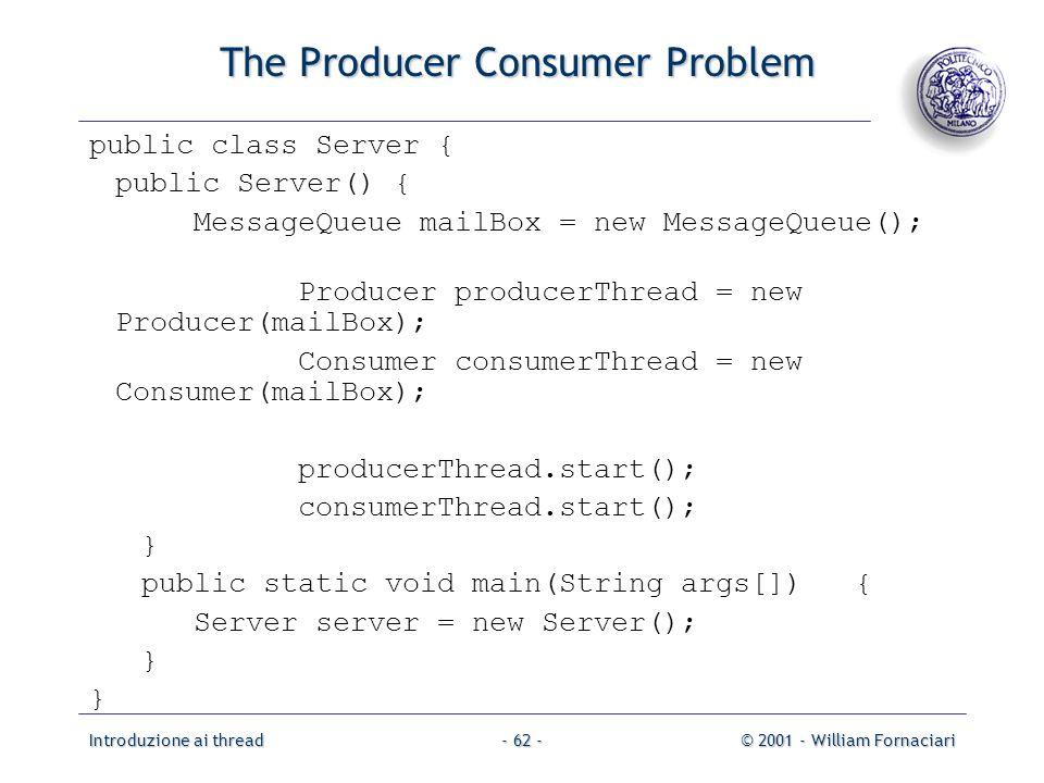 The Producer Consumer Problem