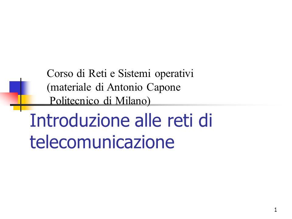 Introduzione alle reti di telecomunicazione