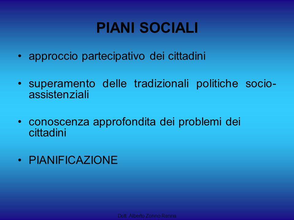PIANI SOCIALI approccio partecipativo dei cittadini