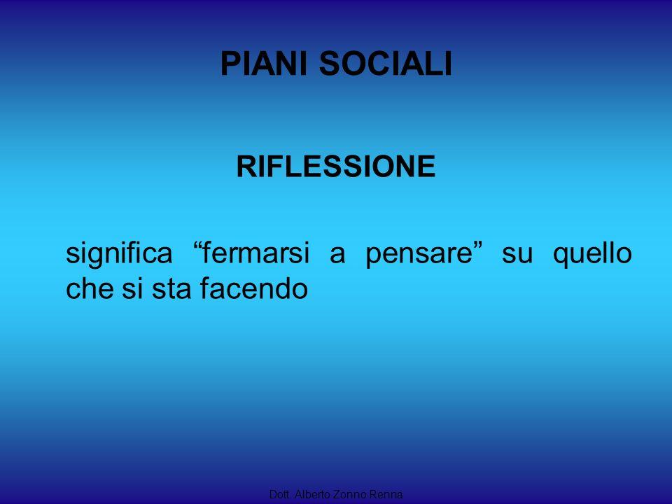 PIANI SOCIALI RIFLESSIONE