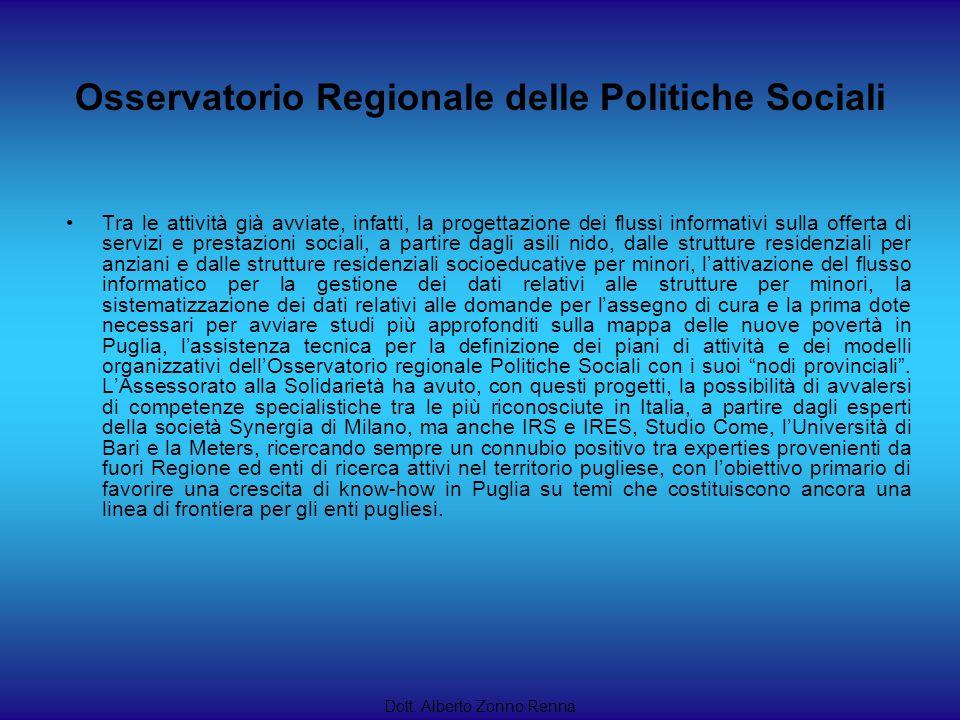 Osservatorio Regionale delle Politiche Sociali