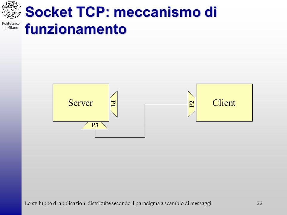 Socket TCP: meccanismo di funzionamento