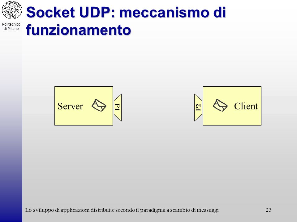 Socket UDP: meccanismo di funzionamento
