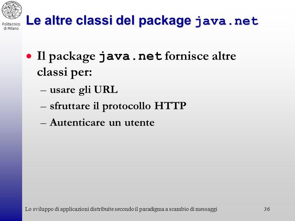 Le altre classi del package java.net