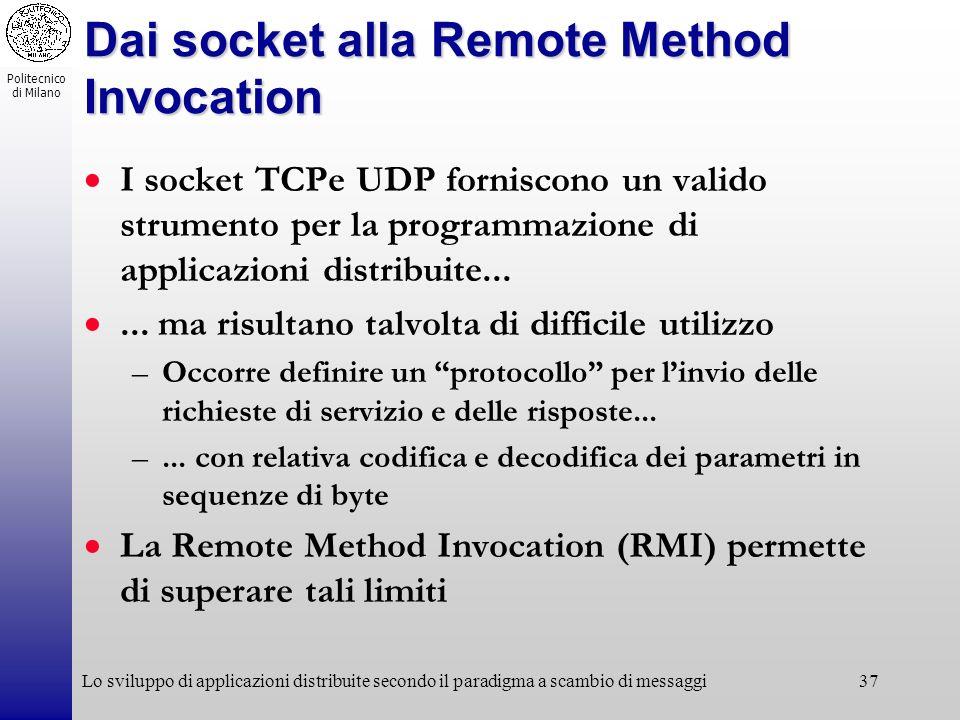 Dai socket alla Remote Method Invocation