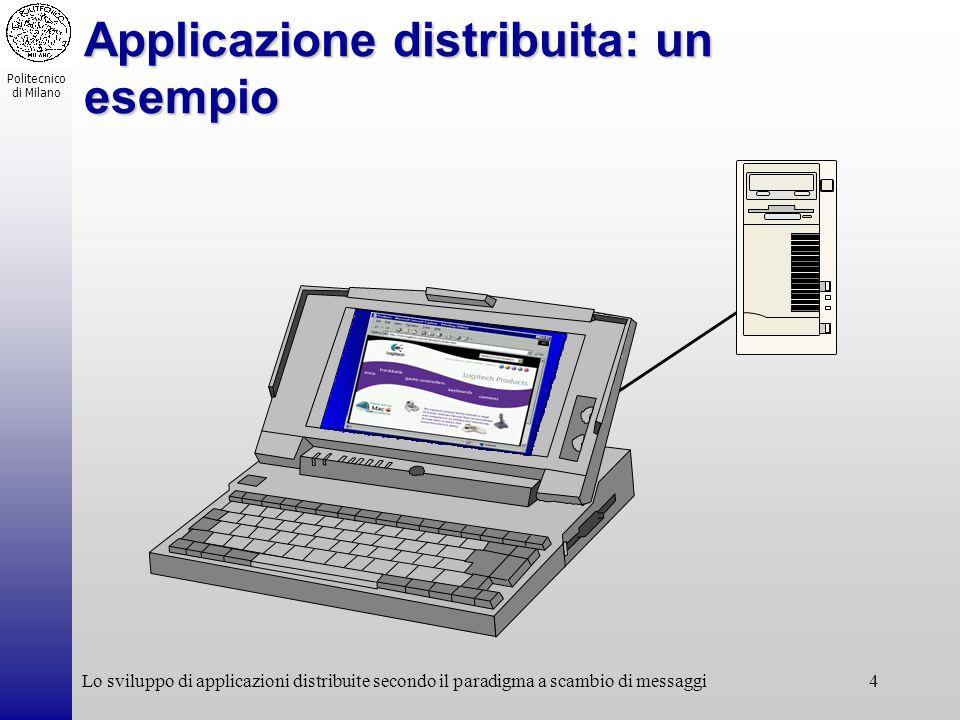 Applicazione distribuita: un esempio