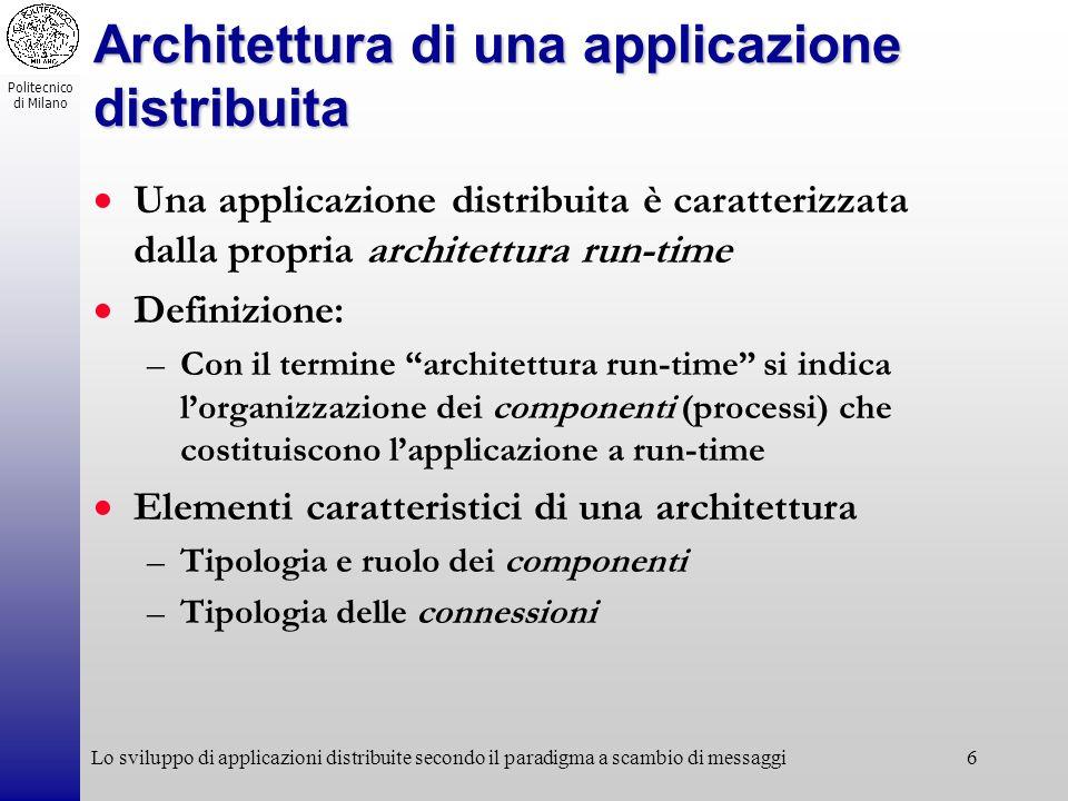 Architettura di una applicazione distribuita