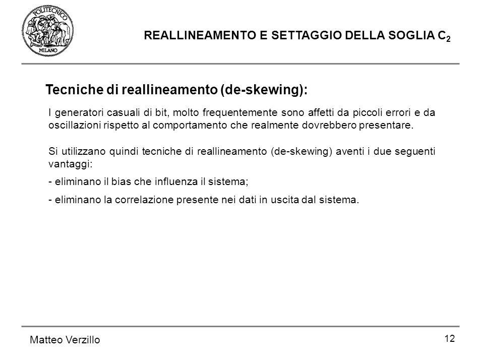 Tecniche di reallineamento (de-skewing):
