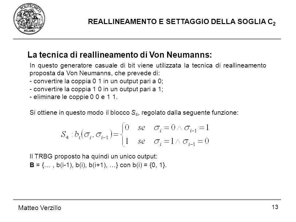 La tecnica di reallineamento di Von Neumanns: