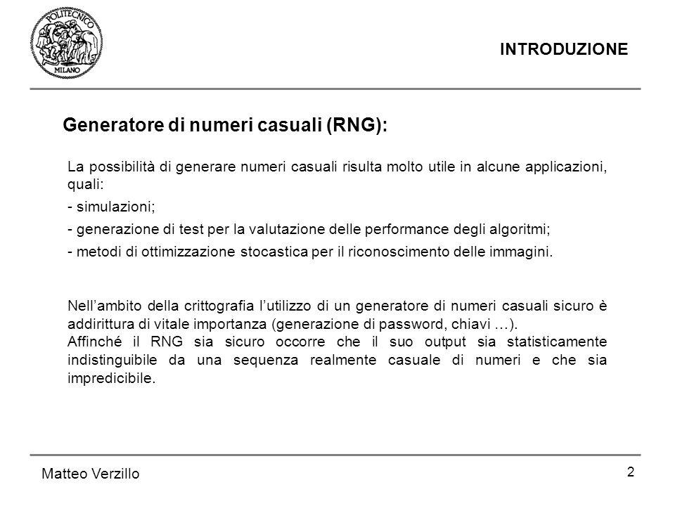 Generatore di numeri casuali (RNG):