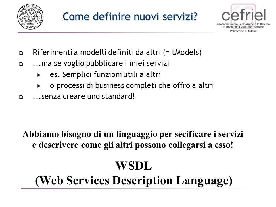 Come definire nuovi servizi