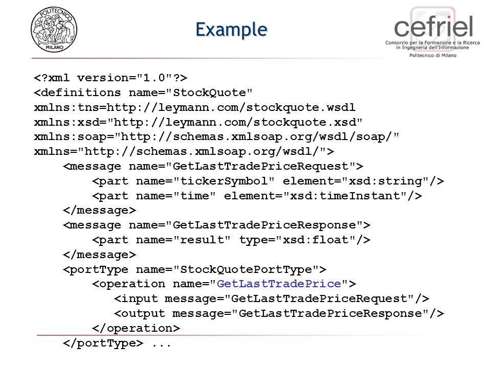 Example < xml version= 1.0 >