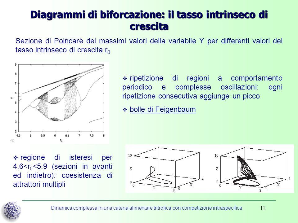 Diagrammi di biforcazione: il tasso intrinseco di crescita