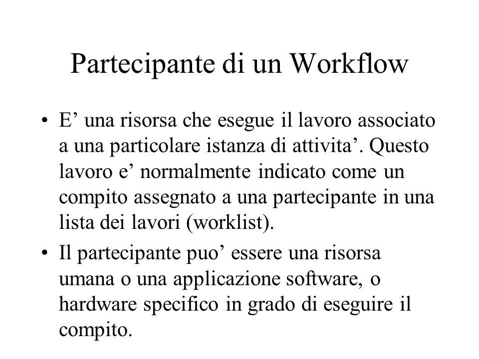 Partecipante di un Workflow
