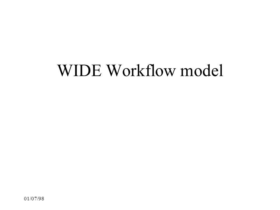 WIDE Workflow model 01/07/98 22
