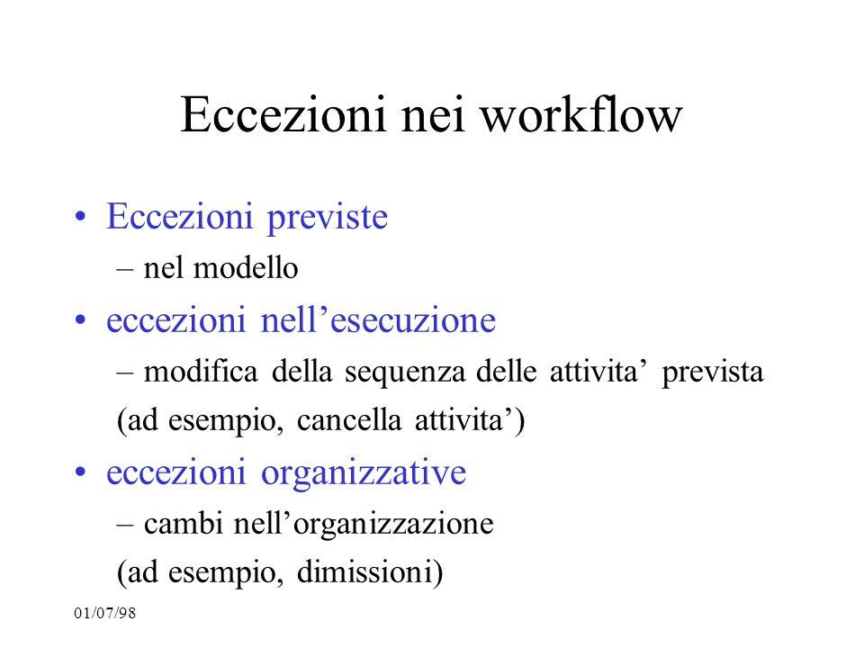 Eccezioni nei workflow