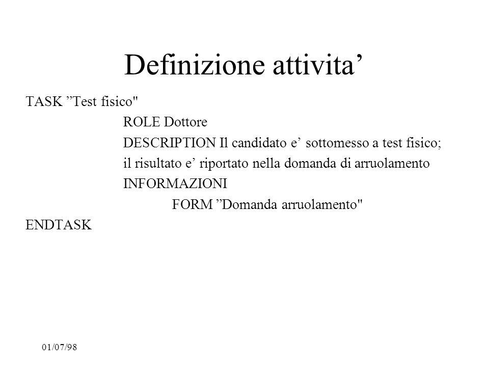 Definizione attivita'