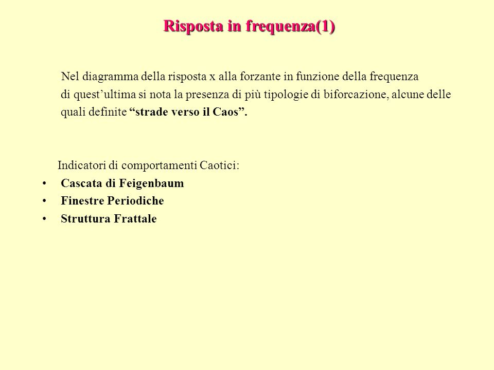 Risposta in frequenza(1)