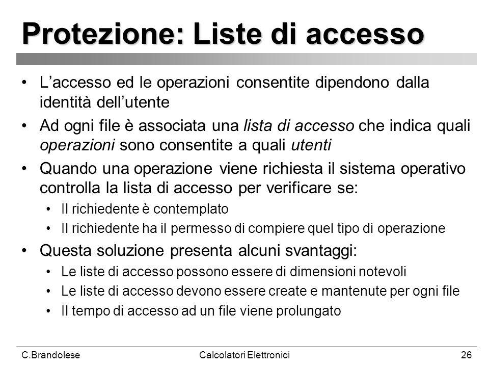 Protezione: Liste di accesso
