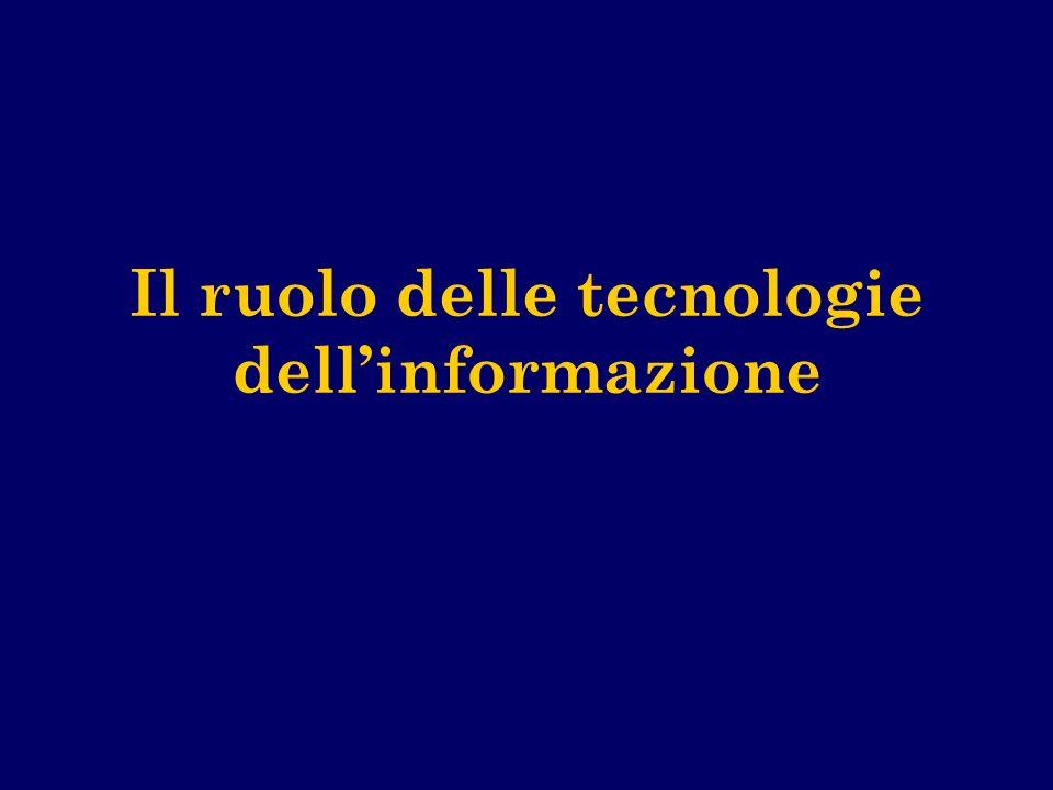 Il ruolo delle tecnologie dell'informazione