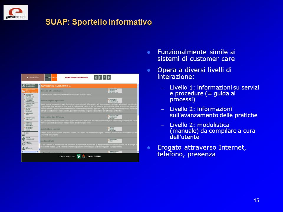 SUAP: Sportello informativo