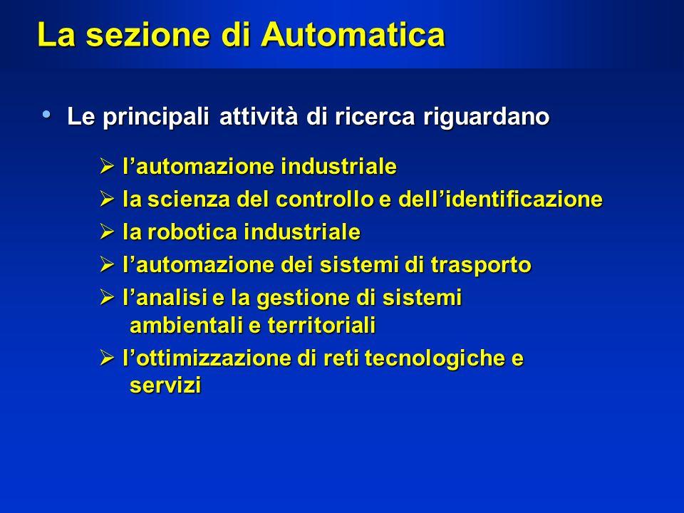 La sezione di Automatica