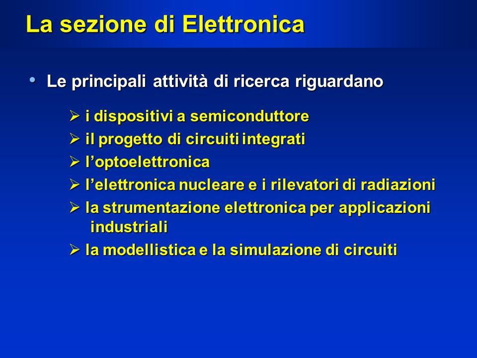 La sezione di Elettronica