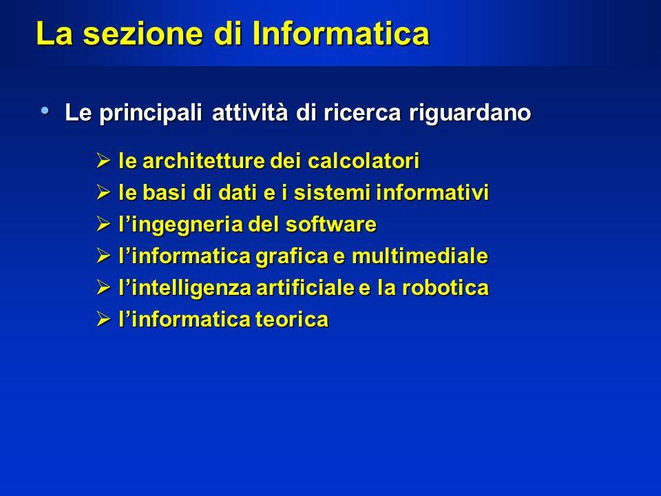 La sezione di Informatica