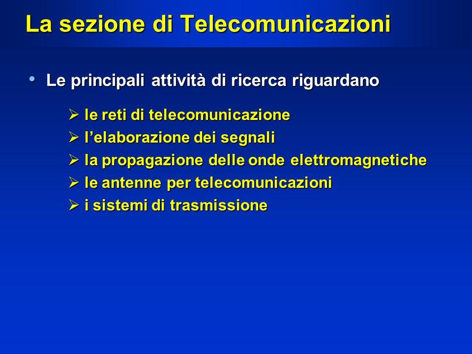 La sezione di Telecomunicazioni