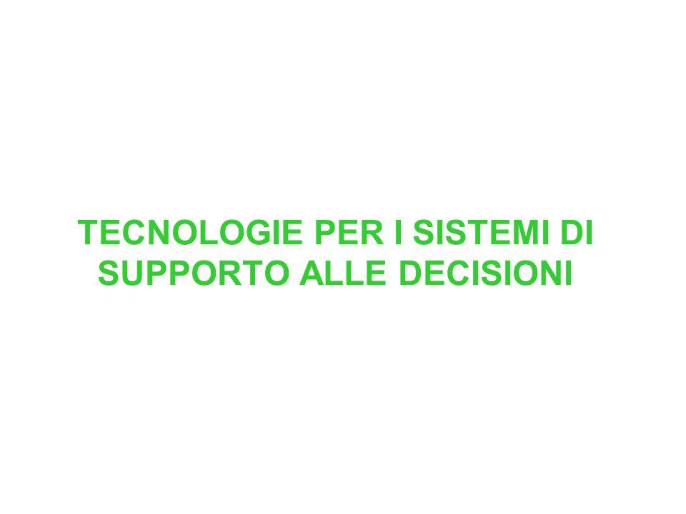 TECNOLOGIE PER I SISTEMI DI SUPPORTO ALLE DECISIONI