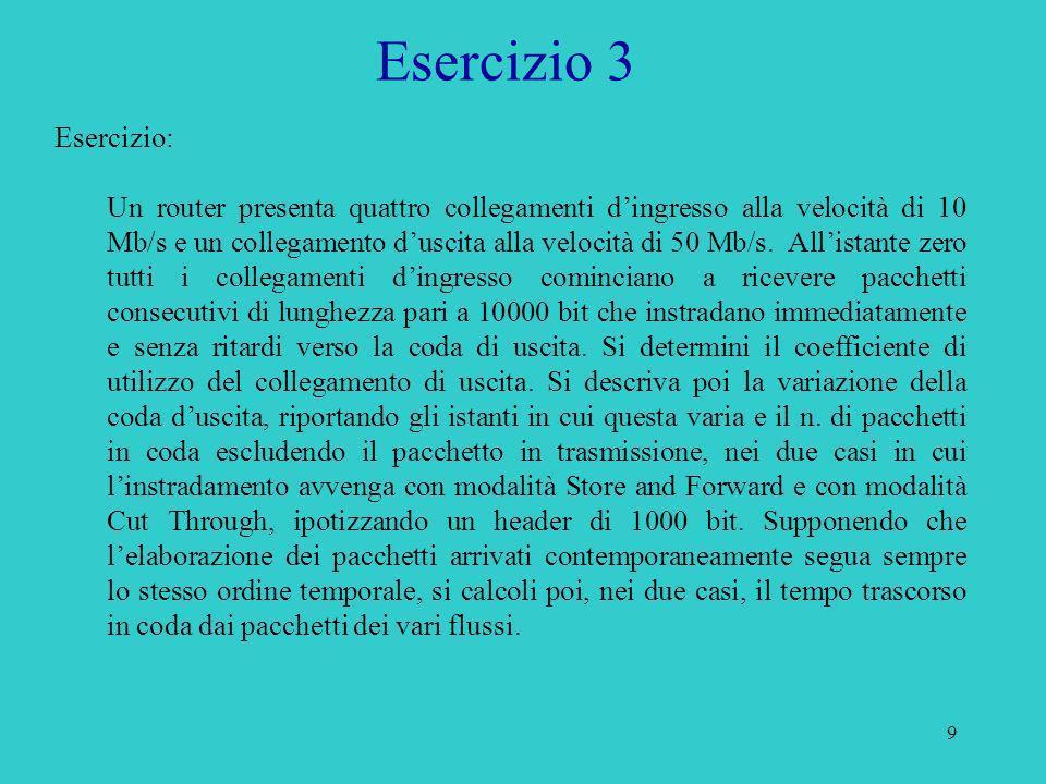 Esercizio 3 Esercizio: