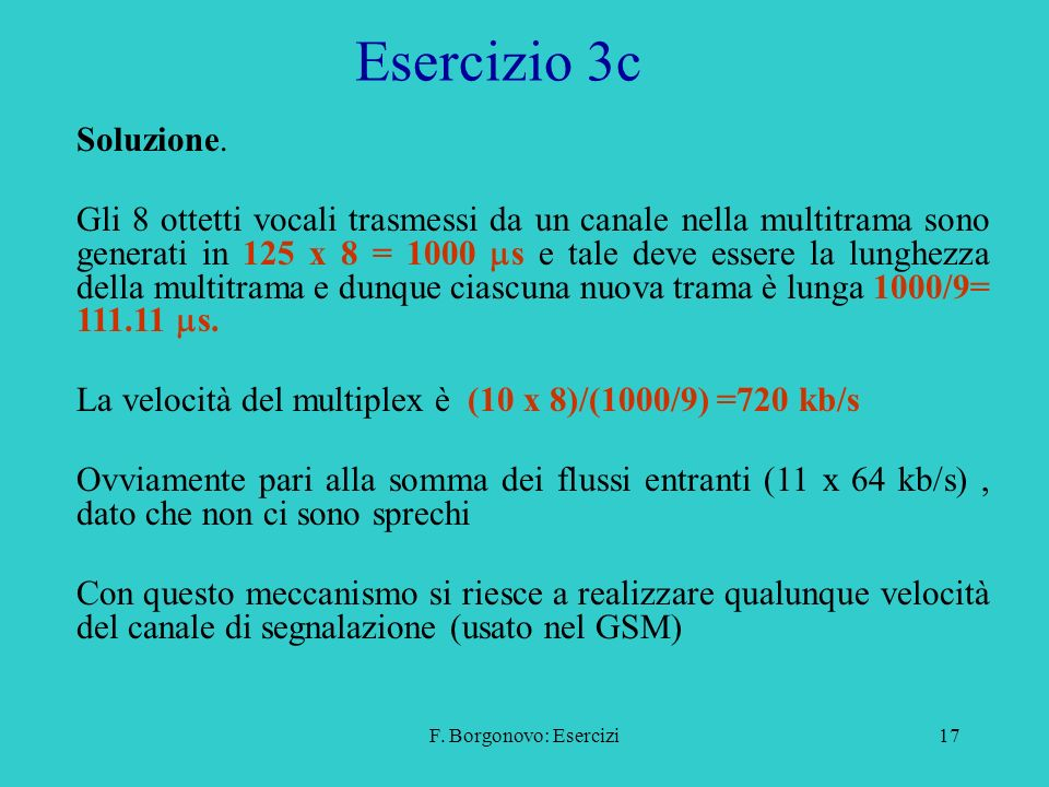 Esercizio 3c Soluzione.