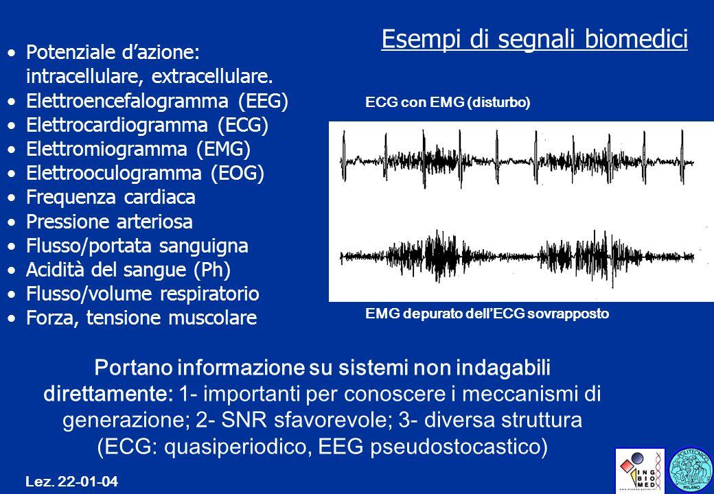 Esempi di segnali biomedici