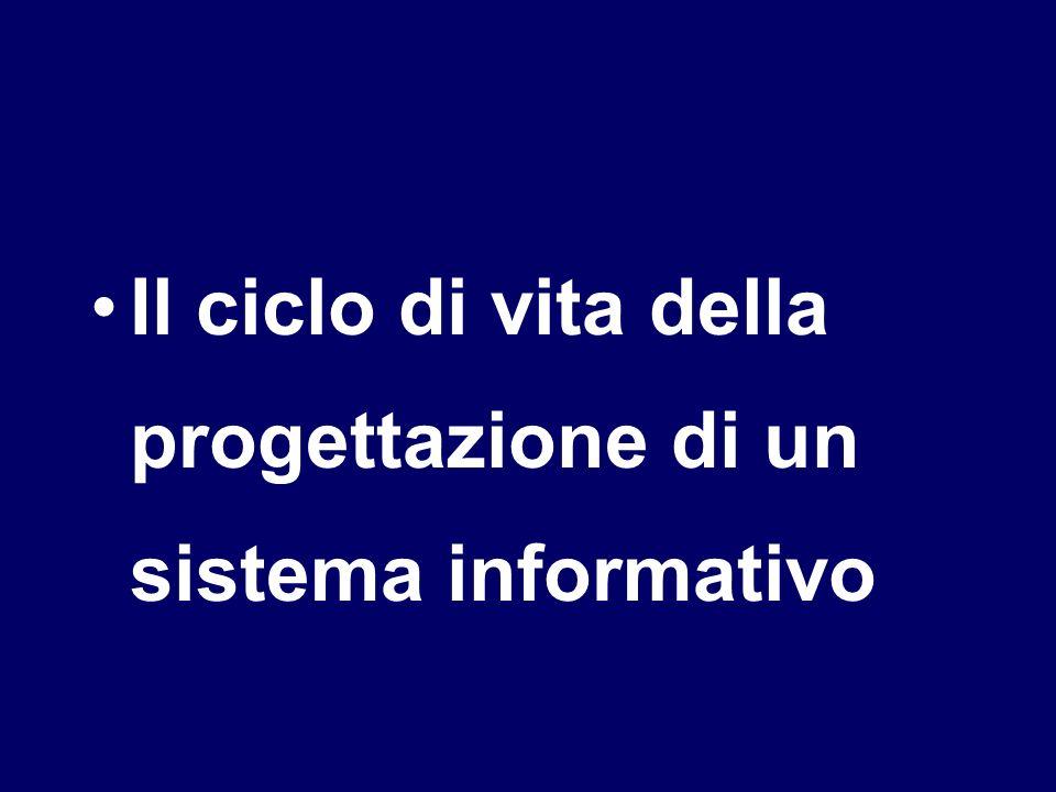 Il ciclo di vita della progettazione di un sistema informativo
