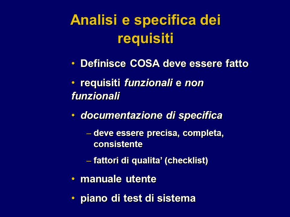 Analisi e specifica dei requisiti