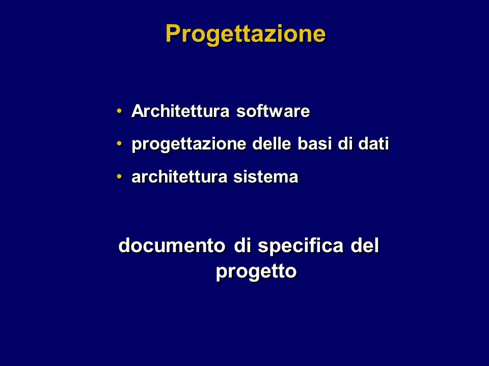 documento di specifica del progetto