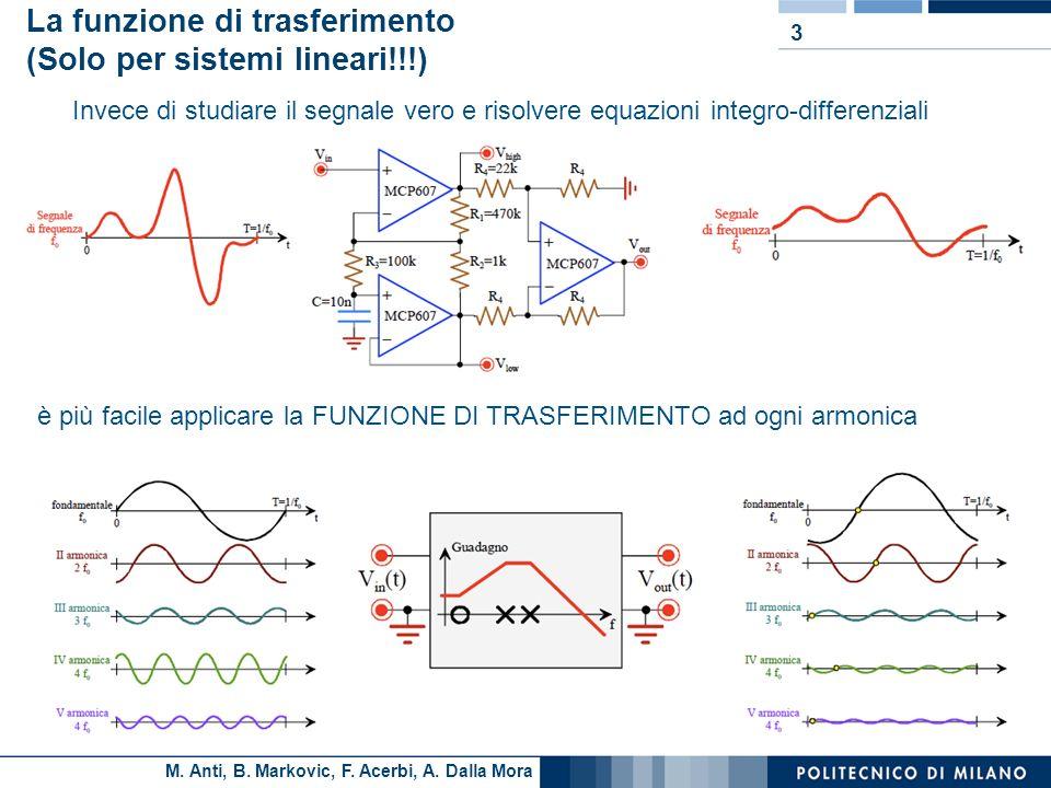La funzione di trasferimento (Solo per sistemi lineari!!!)