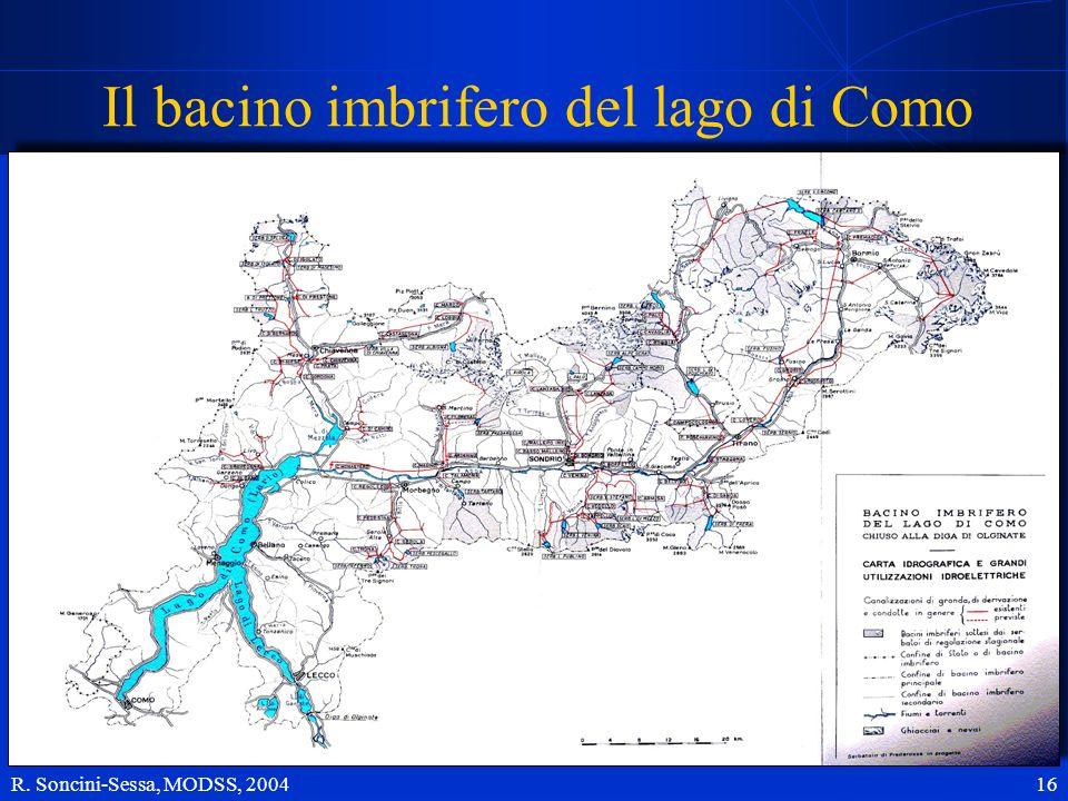 Il bacino imbrifero del lago di Como