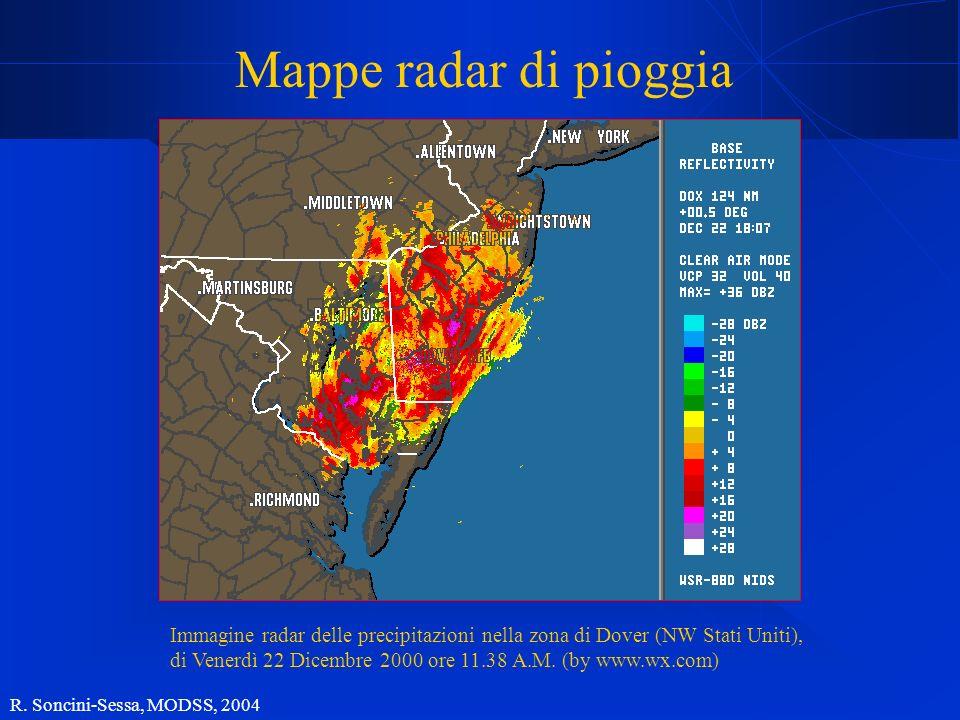 Mappe radar di pioggia