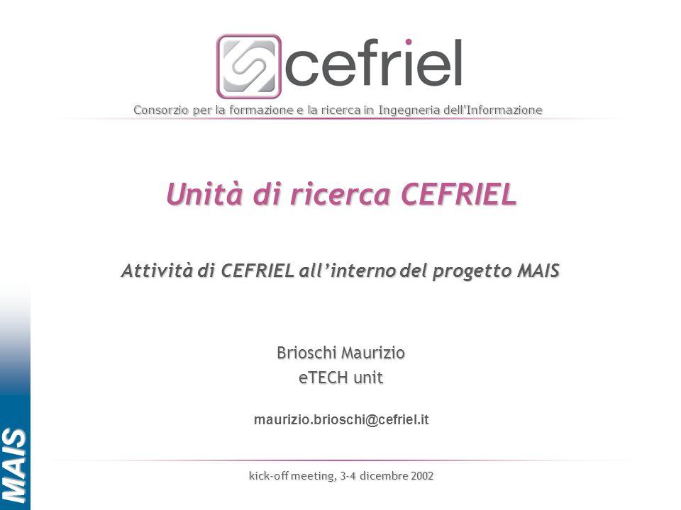 Unità di ricerca CEFRIEL