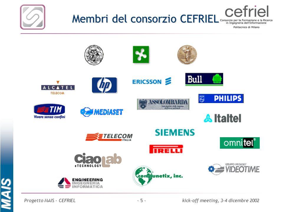 Membri del consorzio CEFRIEL