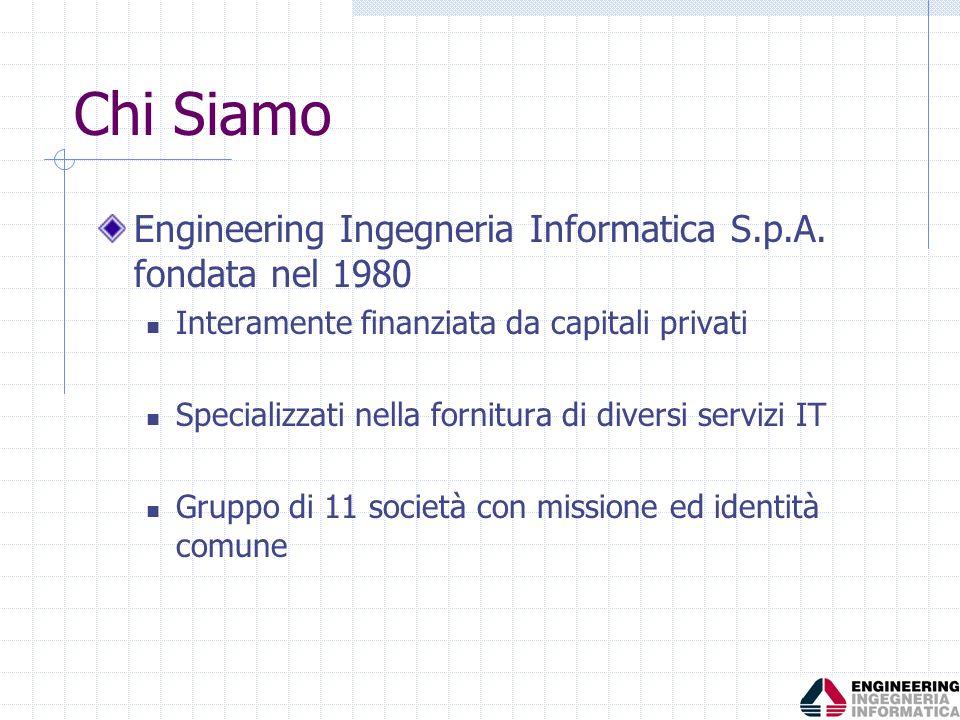Chi Siamo Engineering Ingegneria Informatica S.p.A. fondata nel 1980